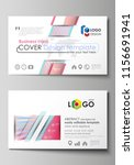 business card templates. easy... | Shutterstock .eps vector #1156691941