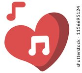 heart with a melody icon vector ... | Shutterstock .eps vector #1156695124