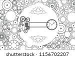 steampunk vintage metal... | Shutterstock .eps vector #1156702207