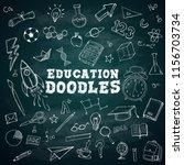 education doodles text school... | Shutterstock .eps vector #1156703734