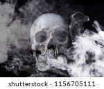 skull in smoke | Shutterstock . vector #1156705111