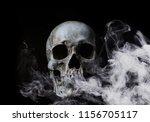 skull in smoke | Shutterstock . vector #1156705117