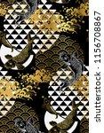 koi fish wave water circles... | Shutterstock .eps vector #1156708867