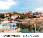 colorful adriatic afternoon in... | Shutterstock . vector #1156712821