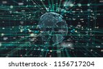 illustration of earth particle...   Shutterstock . vector #1156717204