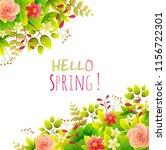 floral frame. spring flowers in ...   Shutterstock .eps vector #1156722301