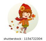 cute little girl with red scarf ...