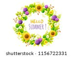 floral frame. wreath of summer... | Shutterstock .eps vector #1156722331