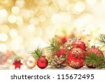 christmas decoration on... | Shutterstock . vector #115672495