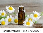 small glass bottle with... | Shutterstock . vector #1156729027