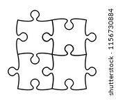 puzzle icon silhouette on white ... | Shutterstock . vector #1156730884