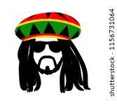 Jamaican Rasta Hat With...