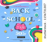 vector back to school sale... | Shutterstock .eps vector #1156731307