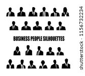 set of silhouettes of business... | Shutterstock .eps vector #1156732234