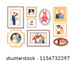 collection of photos of family... | Shutterstock . vector #1156732297