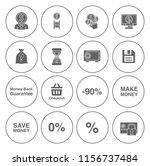 money icons  money cash icons... | Shutterstock .eps vector #1156737484