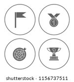winner icons set   cup and... | Shutterstock .eps vector #1156737511