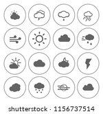 weather overcast icons set  ... | Shutterstock .eps vector #1156737514