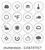 weather overcast icons set  ... | Shutterstock .eps vector #1156737517