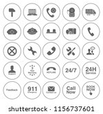 customer service icons set  ... | Shutterstock .eps vector #1156737601