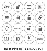 safety and security icons set   ... | Shutterstock .eps vector #1156737604