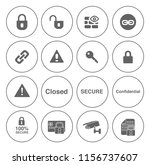 safety and security icons set   ... | Shutterstock .eps vector #1156737607