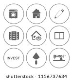 real estate icons set   house... | Shutterstock .eps vector #1156737634