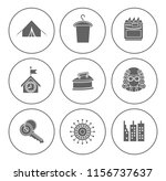 real estate icons set   house... | Shutterstock .eps vector #1156737637