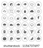 nature icons set   environment... | Shutterstock .eps vector #1156737697
