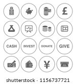 money icons  money cash icons... | Shutterstock .eps vector #1156737721