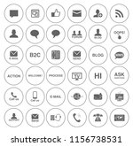 vector communication icons set  ... | Shutterstock .eps vector #1156738531
