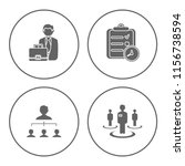 people management icons set  ... | Shutterstock .eps vector #1156738594