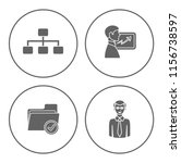 people management icons set  ... | Shutterstock .eps vector #1156738597