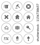 real estate icons set   house... | Shutterstock .eps vector #1156738657