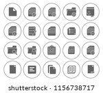 file and folder icons set  all... | Shutterstock .eps vector #1156738717
