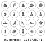 fashion design icons set  ... | Shutterstock .eps vector #1156738741