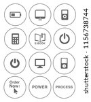 electronic computer icons set   ... | Shutterstock .eps vector #1156738744