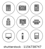 electronic computer icons set   ... | Shutterstock .eps vector #1156738747