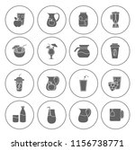 drink icons set   vector glass...