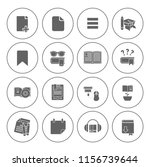 library books icons set  ... | Shutterstock .eps vector #1156739644