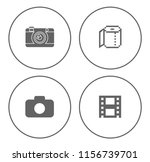 equipment photography icons set ... | Shutterstock .eps vector #1156739701