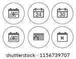 calendar icons set   time  ... | Shutterstock .eps vector #1156739707