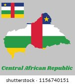 Map Outline And Flag Of Centra...