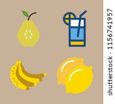 fruit vector icons set. pear ... | Shutterstock .eps vector #1156741957