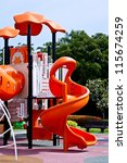 playgrounds in the garden - stock photo