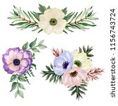 watercolor gouache set of... | Shutterstock . vector #1156743724