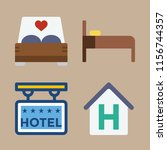 suite vector icons set. hotel... | Shutterstock .eps vector #1156744357