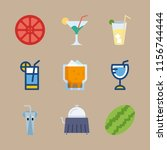 juice icons set. cupcake ... | Shutterstock .eps vector #1156744444