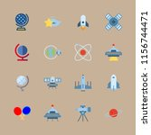 universe vector icons set.... | Shutterstock .eps vector #1156744471