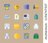 bank icons set. button  report  ... | Shutterstock .eps vector #1156747537